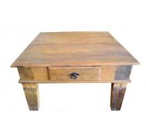 Mesa de centro rustica de madeira demolição - 256