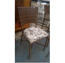 Cadeira Fibra sintética com almofada - 1347