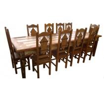 Mesa de 2,80 Rústica com tinta - 1449