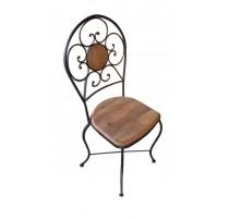 Cadeira de madeira e ferro - 1624