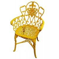 Poltrona Viena Floral - Amarelo - 1196