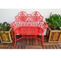 Namoradeira Viena Floral - Vermelho - 2686