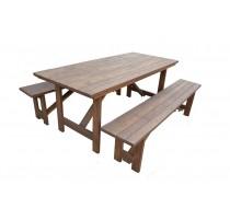 Mesa com 2 bancos Taeda- 2502
